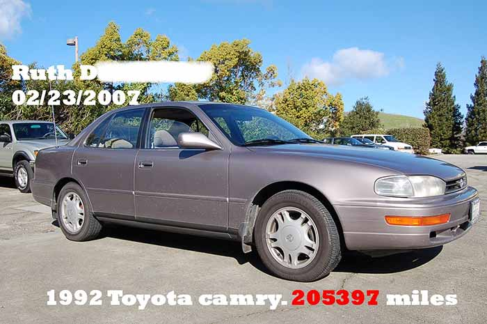 200K Mile Club - 1992 Toyota Camry
